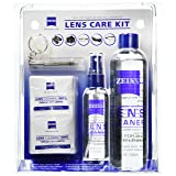 Zeiss Lens Care Kit - 8oz Lens Cleaner Refill, 2oz Refillable Lens Cleaner Spray, 2 Microfiber Cloth, 10 Individually Wrapped Cleaning Wipes, Keychain