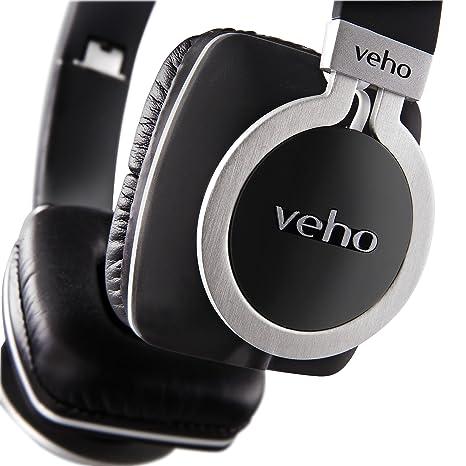 Veho VEP-008-Z8 Casque en aluminium avec Cordon détachable/Design Flex pliage Noir