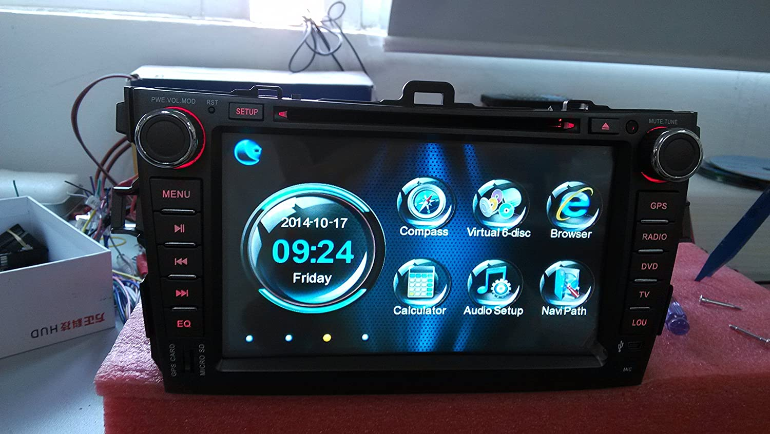 For Toyota Corolla (support year 2007 2008 2009 2010) with 3G WIFI Multi-Touch Screen Car DVD GPS Navigation Build-In Bluetooth,Radio with RDS,Analog TV, AUX&USB, iPhone/iPod Controls, Steering Wheel Control, Free Map автомобильный dvd плеер joyous kd 7 800 480 2 din 4 4 gps navi toyota rav4 4 4 dvd dual core rds wifi 3g