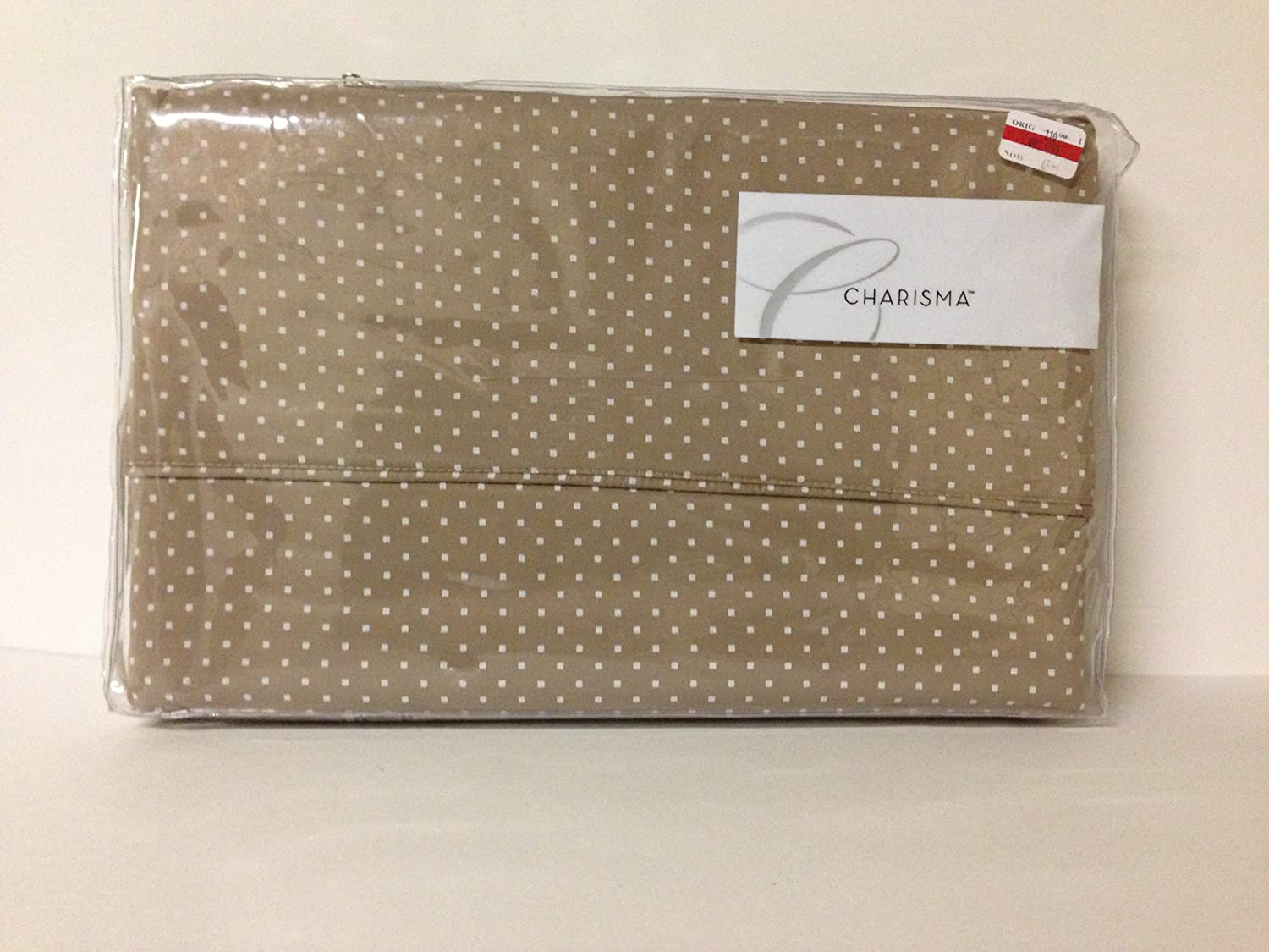 Charisma Lexington Dot King Fitted Sheet, Taupe at Sears.com