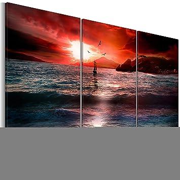 v 0 impression sur toile toile 160x60 cm 3 parties image image sur toile images. Black Bedroom Furniture Sets. Home Design Ideas