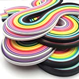 Anndason Paper Quilling Strips set 2080 Strips 26 Colors , 3/ 5/ 7/ 10 mm (8 Sets) (Color: White)