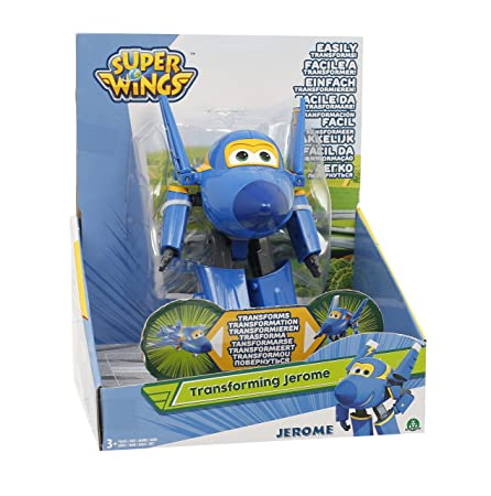 Giochi Preziosi – Super Wings Figurine Transformable articulé, 12 cm Jerome