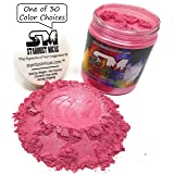 Stardust Micas Pigment Powder Cosmetic Grade Colorant for Makeup, Soap Making, Epoxy Resin, DIY Crafting Projects, Bright True Colors Stable Mica Batch Consistency Pink Watermelon (Color: Pink Watermelon, Tamaño: 72 Gram Jar)