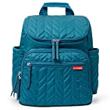 Skip Hop Diaper Bag Backpack Forma, Multi-Function Baby Travel Bag with Changing Pad, Teal with Grey Interior (Color: Peacock, Tamaño: 16-inches)