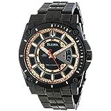 Bulova Men's 98B143 Precisionist Charcoal Grey Dial Bracelet Watch (Color: Black, Tamaño: CASE 46MM)
