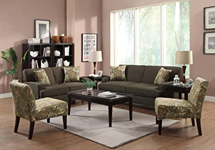 Coaster Home Furnishings 503582 Casual Loveseat, Chocolate