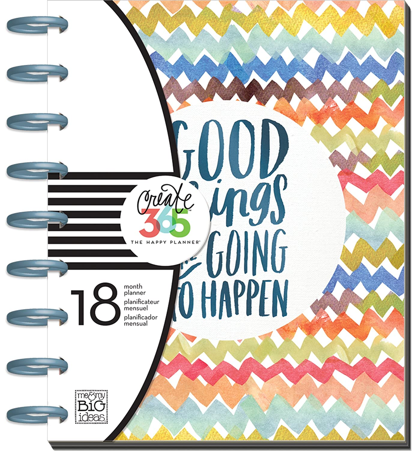 "me & my BIG ideas PLNR-01 Create 365 The Happy Planner ""Good Things Are Going To Happen"" 18 Month Planner"