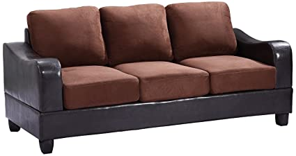 Glory Furniture G626-S Living Room Sofa, Chocolate
