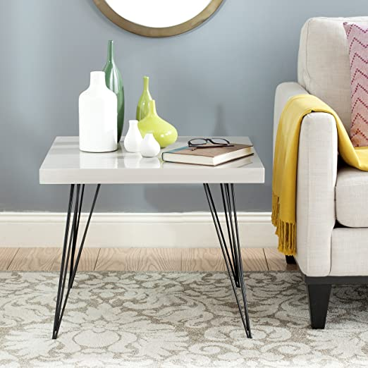 Safavieh Home Collection Wolcott Taupe and Black Coffee Table