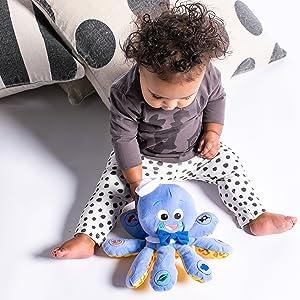 Baby Einstein Octoplush Plush Toy (Color: Blue, Tamaño: 11.0 x 7.0 x 11.0)