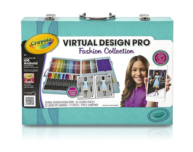Crayola Virtual Design Pro Fashion Set New Free Shipping