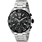 Tag Heuer Men's 'Formula 1' Swiss Quartz Stainless Steel Dress Watch, Color:Silver-Toned (Model: CAZ1010.BA0842) (Color: black)