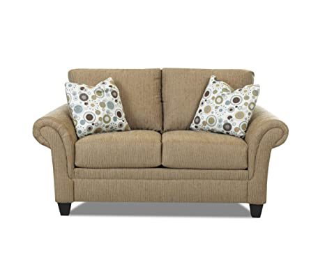 Klaussner Mocha Hubbard Loveseat, 70 by 38 by 30-Inch
