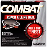 Combat Roach Killing Bait, Large Roach Bait Station, 8 Count (780059/41913) (Color: Large 8 ct, Tamaño: 8 Count Large)