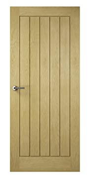 Premdor 82421 838 x 1981 x 35 mm Croft Solid Fully Finished Interior Door - Oak