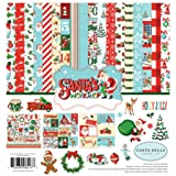 Carta Bella Paper Company CBSW90016 Santa's Workshop Collection Kit Paper, red, Green, Black, Blue (Color: Red, Green, Black, Blue,, Tamaño: 12-x-12-Inch)