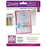 Die'sire Create-A-Card Die, Birthday Garden (Color: Silver)