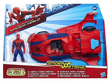 The Amazing Spider-Man 2 – Spider Strike – Triple Strike Cruiser – Véhicule 3 en 1 et Figurine