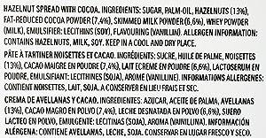 NUTELLA GLASS JAR, 21 Mini Nutella Jars inside with each 30
