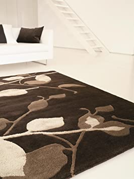 5 benuta tapis de salon moderne moderne aura pas cher marron 170x240 cm cm label de. Black Bedroom Furniture Sets. Home Design Ideas