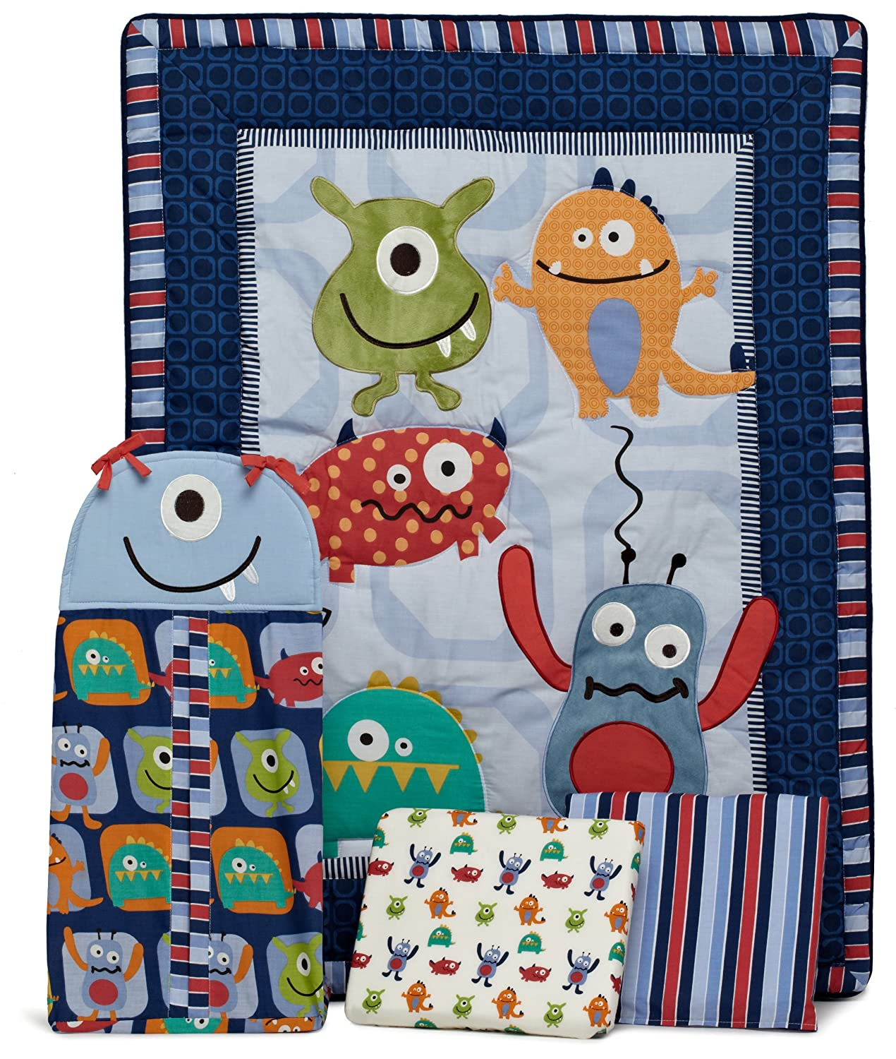 CoCo and Company Monster Buds Crib Bedding