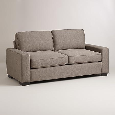 Pewter Gray Aylin Square Arm Sofa - World Market