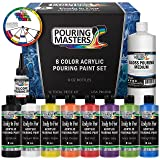 Pouring Masters 8-Color Ready to Pour Acrylic Pouring Paint Set - Premium Pre-Mixed High Flow 8-Ounce Bottles - for Canvas, Wood, Paper, Crafts, Tile, Rocks and More (Color: 8-Color Starter, Tamaño: 8-Ounce)