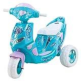 Kid Trax Frozen Twinkling Lights Scooter 6V Girl's KT1163 Ride On, Blue (Color: Blue, Tamaño: 6 Volt)