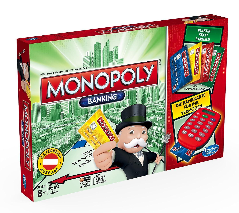 Hasbro A7444156 - Monopoly Banking, Familien-Brettspiel, österreichische Version, Edition 2014