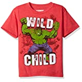Marvel Little Boys' The Incredible Hulk T-Shirt, Red Heather, 5/6 (Color: Red Heather, Tamaño: 5/6)