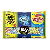 65 Count OREO Mini, SOUR PATCH KIDS & SWEDISH FISH Halloween Bulk Candy Trick or Treat Size Variety Pack, Individual Snack Bags (Tamaño: 65 Count)