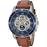 Fossil Men's ME3140 Grant Sport Automatic Luggage Leather Watch (Color: Silver)