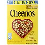 Cheerios, Breakfast Cereal, Gluten Free, Family Size, 21 oz. Cereal Box (Pack of 2) (Tamaño: 21 Ounce (Pack of 2))