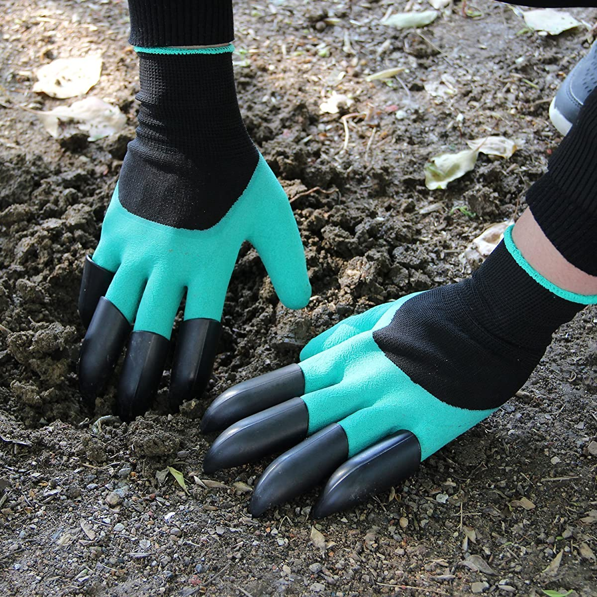 Garden Gloves With Claws, Great for Digging Weeding Seeding poking -Safe for Rose Pruning –Best Gardening Tool -Best Gift for Gardeners (Double Claw)