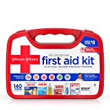 Johnson & Johnson All-Purpose Portable Emergency First Aid Kit for Home & Travel, 140 pc (Tamaño: 140 Pieces)