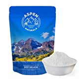 Grass Fed Beef Gelatin Powder - 24oz Unflavored, Easy To Mix, Use in Bone Broth - Pasture Raised Protein Supplement for Joint Health, Anti Aging Skin Benefits, Non GMO, Paleo Friendly