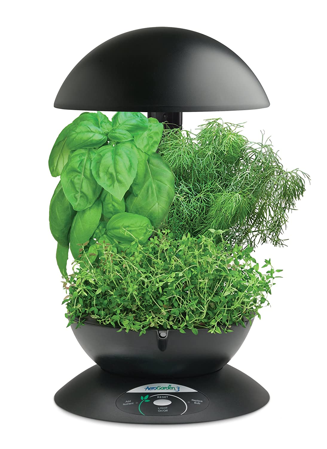 AeroGarden 3 with Gourmet Herb Seed Kit, Black $59.95