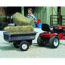 "Rubbermaid Commercial Structural Foam Tractor Cart, Black, 1200 lbs Load Capacity, 29-1/2"" Height, 68"" Length x 35-1/2"" Width"