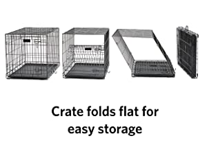 iCrate Dog Crate Starter Kit, 22-Inch Dog Crate Kit Ideal for XS DOG BREEDS Weighing Up to 12 Pounds, Includes Dog Crate, Pet Bed, 2 Dog Bowls & Dog Crate Cover, 1-YEAR MIDWEST QUALITY GUARANTEE (Color: Black, Tamaño: 22-Inch Kit | XS Dog Breed)