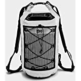 ZBRO Dry Bag Waterproof with 2 Pockets, Padded Straps and Reflective Stripe (Color: White, Tamaño: 20L)