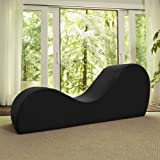Liberator Kama Sutra Sex Chair Sensual Yoga Chaise - Black Micro-velvet (Color: Black)