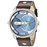 Diesel Men's DZ7321 Mini Daddy Watch With Brown Leather Band (Color: Brown 2, Tamaño: 46 mm x 54 mm)