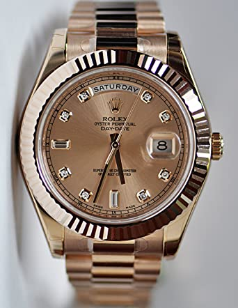 ROLEX DAY-DATE II ROSE GOLD PRESIDENT PINK DIAMOND DIAL