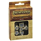 Q Workshop Pathfinder Mummy's Mask Dice Set (7 Piece) (Color: Beige-blue)