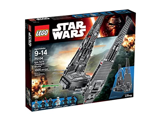 LEGO Star Wars Kylo Ren's Command Shuttle 75104 Building Kit: Toys & Games