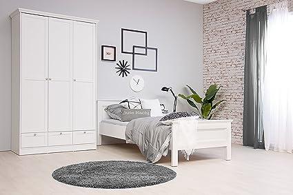 """""""Landhaus"""" modernes Bett, Weiß,im Landhausstil, 90 x 200 cm"""
