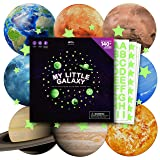 100+ pcs Glow in The Dark Stars and Planets Stickers for Ceiling | Large Decals for Kids Bedroom Walls | Letter Set | Personal Planetarium | Boy & Girl Solar System Toys | Moon in My Room Decoration