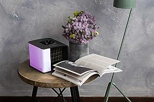 Coal Black Evapolar EvaSMART Personal Evaporative Air Cooler Purifier and Humidifier Portable Air Conditioner EV-3000 with Alexa support