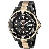Invicta Men's 10643 Pro Diver Automatic Black Carbon Fiber Dial Two Tone Stainless Steel Watch (Color: black)